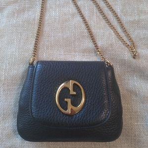 "Gucci ""1973"" Leather Small Chain Crossbody"